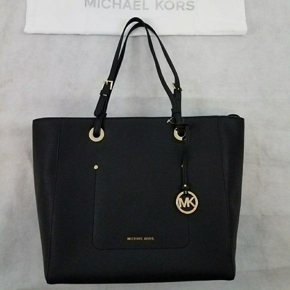 e6aab122f227 Michael Kors Bags | Ladies Walsh Tote Black Large Purse | Poshmark